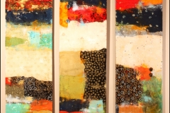 Tiersky-Abstraction-Resin-Series-Mixed-media-on-wood-box-16x54x1-each-panel