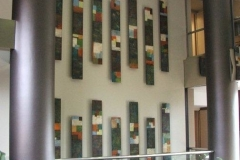 Tiersky-Columns-Install-Mixed-media-on-wood-12x96x3-each-panel
