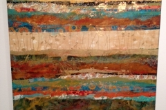 Tiersky-Elements-1-Mixed-media-on-wood-box-30x30x2