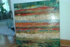 Tiersky-Elements-2-Mixed-media-on-wood-box-30x30x2