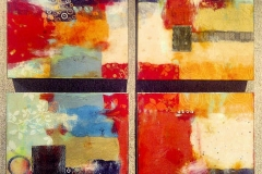 Tiersky-Four-square-Mixed-media-resin-23x23x3-