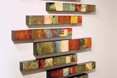 Tiersky-Ladder-Amsterdam-Mixed-media-on-wood-box-66x56x3