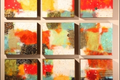 Tiersky-Nine-Squares-Mixed-media-resin-16x16x3