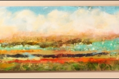 Tiersky-Horizon-5-Mixed-media-on-wood-box-with-resin-16x54x1